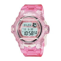 Ladies' Casio Baby-G Pink Jelly Digital Watch