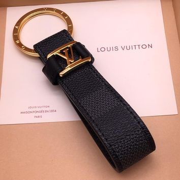 Louis Vuitton Lv Dragonne Key Holder Black Style 12 M62706