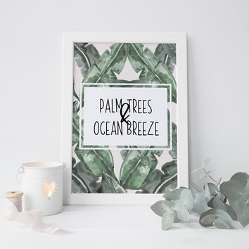 Palm Trees and Ocean Breeze Art Print