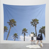 Sky Palms Wall Tapestry by Lisa Argyropoulos