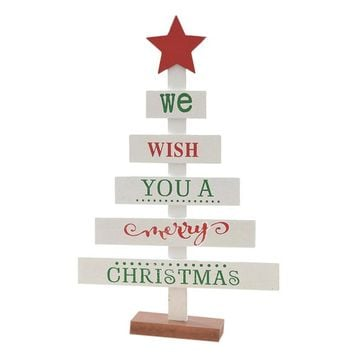 Merry Christmas Bedroom Desk Decoration Wooden Tree