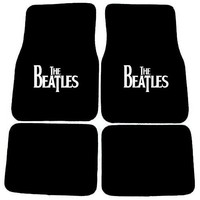 The Beatles Original Classic Album Logo Front & Rear Seat Car Truck SUV Carpet Floor Mats - 4PC