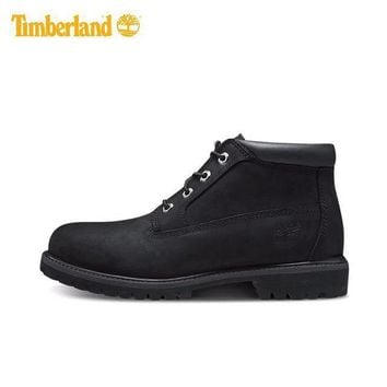 PEAPON Timberland Rhubarb Boots Mid-high Shoes Black Waterproof Martin Boots