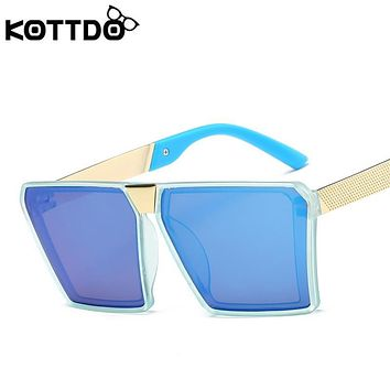 KOTTDO Fashion Polarized Children's Sunglasses Baby Girls Hipster Vintage Eyeglasses Mirror Anti UV400 Sunglasses For Boys TY801