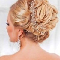Crystals & Pearls Wedding Proms Bridal Hair Vine Headband Tiara Crown Gold silve