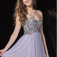 Buy discount Flowing Chiffon Sweetheart Neckline A-Line Short Homecoming Dresses With Beads at Dressilyme.com