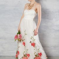 All the Way to the Banquet Maxi Dress in White