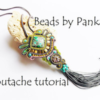 Soutache tutorial.Soutache pendant Tutorial .