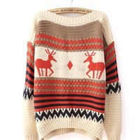 *Free Shipping* Beige Women One Size Sweater TBHTK1207 from MaxNina