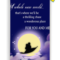Disney Aladin Quotes for Iphone 4 / 4s Cover Rubber Case