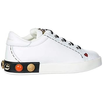 Dolce & Gabbana Girls Shoes Child Leather Sneakers White