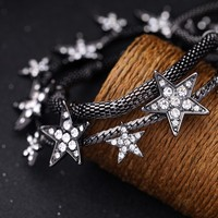 Moon and star necklace universe