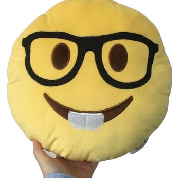 Nerd Emoji Pillow