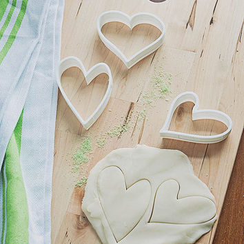 Doodle Hearts- Hand Drawn Hearts Cookie Cutter Set (3D printed)