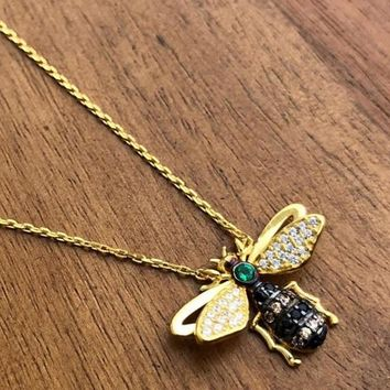 Bumble Bee Necklace Yellow