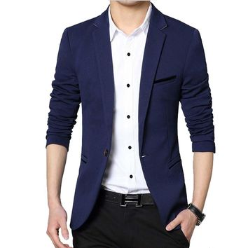 Men Casual Suit Business Style Fashion Design Men's Long Sleeve Slim fit Suits Masculine Blazer one Button Suits