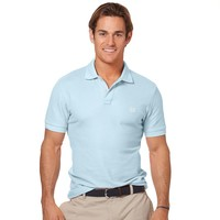 Chaps Fitted Solid Pique Polo
