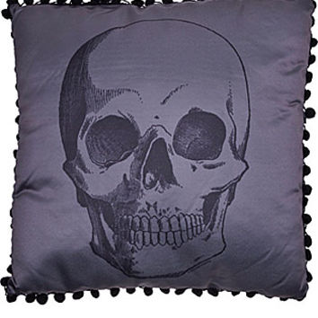 X-Ray Anatomical Skull Satin Pillow - PLASTICLAND