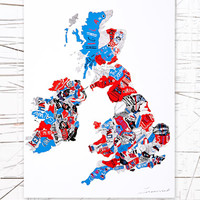 East End Prints: British Map Wall Art at Urban Outfitters