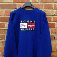 Tommy Hilfiger Casual Embroidery Pullover Top Sweater Sweatshirt