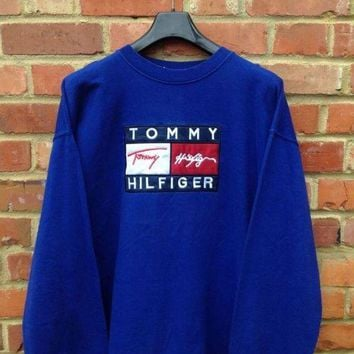 DCCKI2G Tommy Hilfiger Casual Embroidery Pullover Top Sweater Sweatshirt