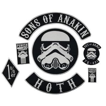 Star Wars Force Episode 1 2 3 4 5 Sons of Anakin Stormtrooper  Iron on Embroidery patch Sewing on Motorcycle Jacket patches for clothes DIY Design AT_72_6