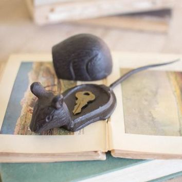 Cast Iron Mouse Hide-A-Key
