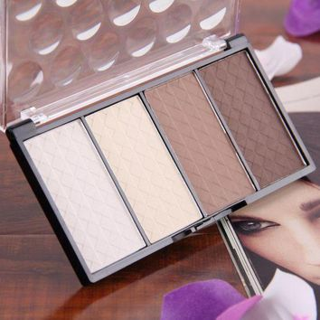 LMF57D High Quality 4 color women face powder to isolate and the Shading palette powder 4 in 1 makeup powder set