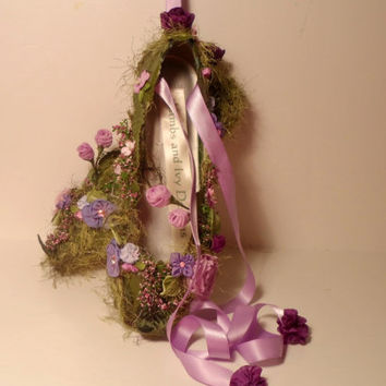 Fairy Woodland Fairy Nymph Garden Shoes, Forest Fairy Shoes Fairytale Shoes, Faerie Shoes, Fairy Ballet