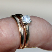 Vintage 1940s engagement ring and wedding band OCTOBER SALE