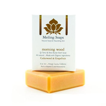 Meiling Skincare Organic Soap - Morning Wood (Cedarwood & Grapefruit)