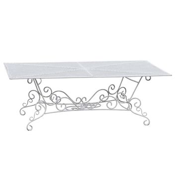 French Wrought Iron Rectangular Garden Table, circa 1920