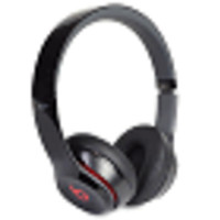 Beats by Dr. Dre Solo2 Foldable On-Ear Stereo Headphones w/Detachable 3.5mm Cable & Case (Black) - B