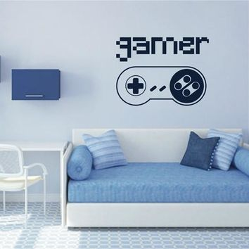 ik2546 Wall Decal Sticker controller console Xbox 360 Game PS4 player bedroom teens