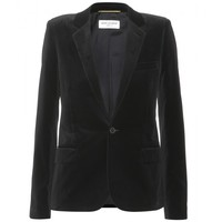 saint laurent - velvet blazer