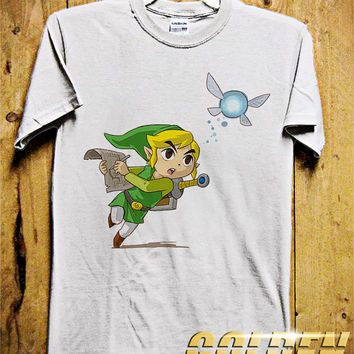 Adventure Of ZELDA - Run Men T-Shirt - The Legend of Zelda T-Shirt - Triforce - Game Design for Men T-Shirt (Various All Color Available)