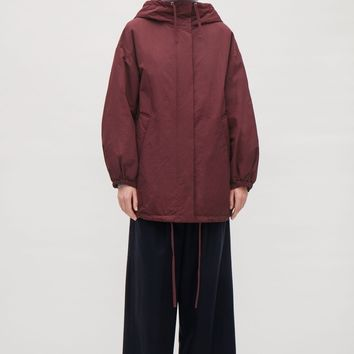 Oversized padded parka - Burgundy - Coats & Jackets - COS US