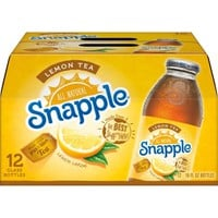 Snapple Lemon Tea, 16 fl oz, 12 pack - Walmart.com