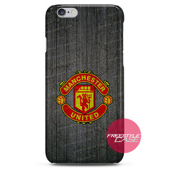 Manchester United Logo Wall iPhone Case 3, 4, 5, 6 Cover