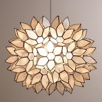 Large Capiz Lotus Pendant Shade