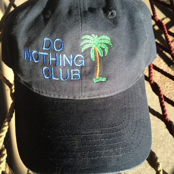 Do Nothing Club - Navy Floppy Style w/ Blue lettering