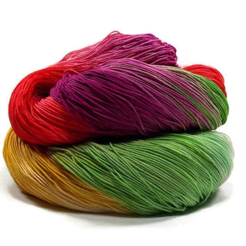 300 Yards Hand Dyed Cotton Crochet Thread Size 10 3 Ply Specialty Thread White Yellow Green Dark Coral Red Violet Fine Cotton Yarn