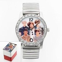 One Direction Silver Tone Simulated Crystal Expansion Watch - Juniors