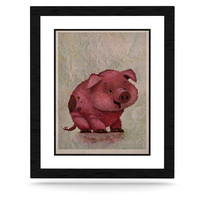 "Rachel Kokko ""This Little Piggy"" Pink White KESS Naturals Canvas (Frame not Included)"