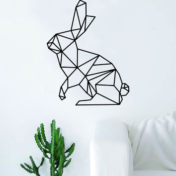 Geometric Rabbit Animal Design Decal Sticker Wall Vinyl Decor Art Living Room Bedroom Abstract Cool Teen Bunny