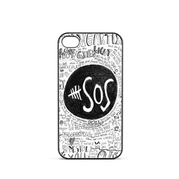 5 Seconds of Summer Doodle iPhone 4 / 4s Case