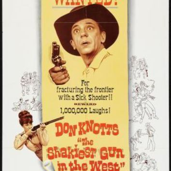 Shakiest Gun In The West movie poster Sign 8in x 12in