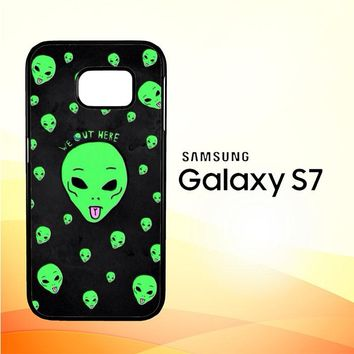Alien We Out Here X4148 Samsung Galaxy S7 Case