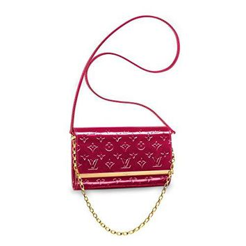 Louis Vuitton Monogram Vernis Leather Ana Clutch Handbag Article:M90092 Indian Rose Made in France