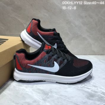 KUYOU N835 Nike Run Swift TV4 Flyknit Breathable Running Shoes Black Red